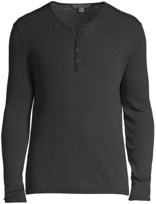John Varvatos Slim-Fit Knit Henley Sweater