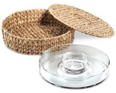 Artland Oasis Garden Terrace 3-Pc. Lidded Chip & Dip Server Tray