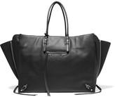 Balenciaga Papier A4 Zip Around Textured-leather Tote - Black