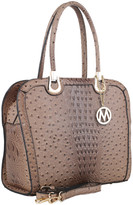 Mkf Collection By Mia K. MKF Collection by Mia K. Women's Handbags - Taupe Ostrich-Embossed Ilenia Satchel