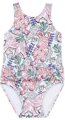 Kenzo Baby Girl Swim Suit White