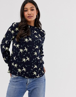 Vila floral print blouse-Multi