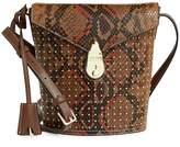 Calvin Klein Heritage Lock Statement Series Python Leather Shoulder Bag