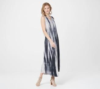 Belle By Kim Gravel TripleLuxe Knit Tie-Dye Maxi Dress