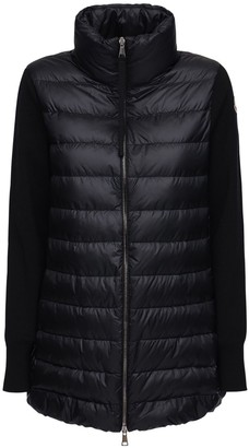 Moncler Wool Knit & Nylon Down Jacket