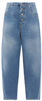 MM6 MAISON MARGIELA Buttoned High-rise Straight-leg Jeans - Denim