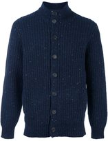 Brunello Cucinelli flocked ribbed cardigan - men - Polyamide/Cashmere/Virgin Wool - 54