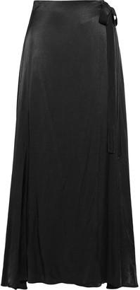 Les Héroïnes The Emmeline Satin Maxi Wrap Skirt