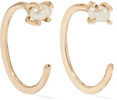 Melissa Joy Manning 14-karat Gold Pearl Earrings - one size