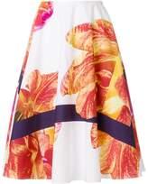 Salvatore Ferragamo printed flared skirt