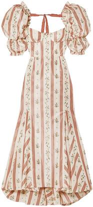 Brock Collection Ruffled Floral-print Taffeta Maxi Dress