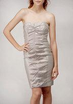 Techno Brocade Combo Dress