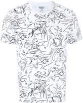Kenzo linear print t-shirt - men - Cotton - XS