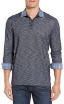 Stone Rose Men's Flame Slim Fit Long Sleeve Polo
