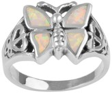 Journee Collection 2 CT. T.W. Marquise-cut Opal Butterfly Bezel Set Ring in Sterling Silver - White