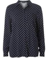 Dorothy Perkins Womens Navy Spotted Shirt
