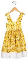Helena Girls' Floral Print A-Line Dress
