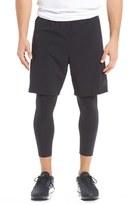 adidas 'Team Issue' 2-In-1 Running Tights & Shorts