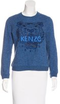Kenzo Embroidered Metallic-Accented Sweater