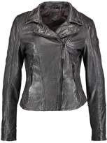 Gipsy NENI Leather jacket dark anthracite