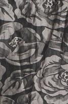 Tracy Reese Rose Detail Metallic Tulle Slipdress