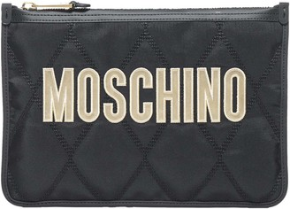 Moschino Logo Quilted Pouch