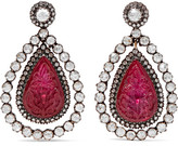 Amrapali 18-karat Gold, Silver, Ruby And Diamond Earrings - Red