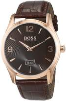 HUGO BOSS Men's 1513426 Rose Leather Quartz Watch
