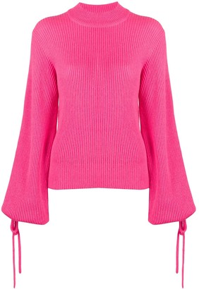 MSGM Tie-Sleeves Mock Neck Jumper