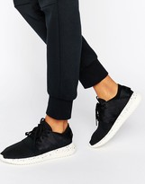 adidas Black Tubular Trainers With Speckle Sole