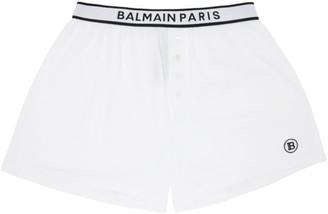 Balmain White Cotton Boxers