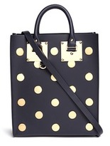 Sophie Hulme 'Albion' mini polka dot rectangle leather box tote