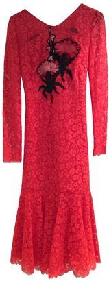 Erdem Red Lace Dress for Women