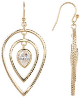 Cole Haan CZ Textured Teardrop Earrings