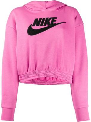 Nike long sleeved Swoosh logo hoodie