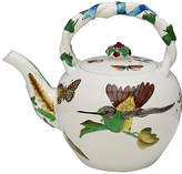 One Kings Lane Vintage Antique Hand-Painted Wedgwood Teapot - Rose Victoria - white/multi