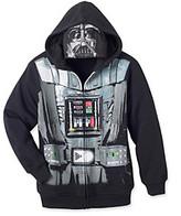 Star Wars Boys' 8-20 Black Darth Vader Fleece Character Hoodie