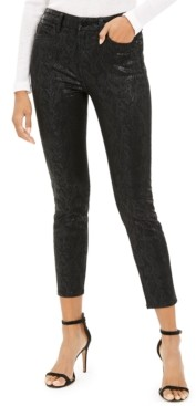 JEN7 by 7 For All Mankind Coated Snake-Print Jeans