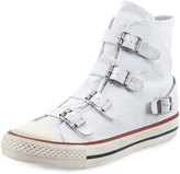 Ash Virgin Buckled Canvas Sneaker, White