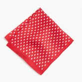 J.Crew Linen pocket square in heart print