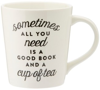 Indigo Good Book & Cup of Tea Mug