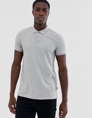Wrangler tipped polo shirt-Grey
