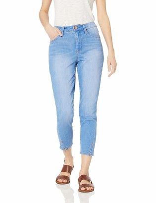 """Seven7 Women's MID Rise 25"""" Hollywood Skinny W/Twisted Ankle Seam Vent"""
