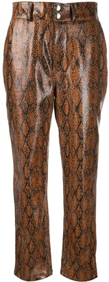 Roseanna Textured Python Skin Effect Trousers