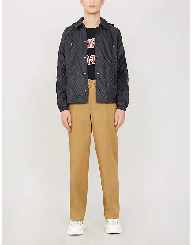 Gucci Monogram-print hooded shell jacket
