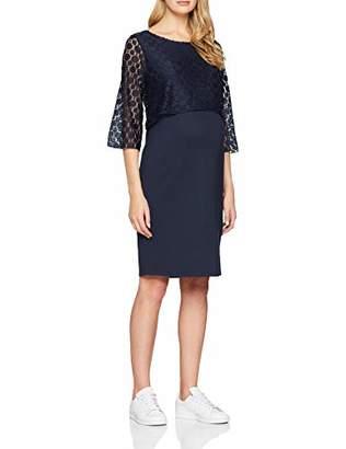Noppies Women's Dress 3/4 SLV Marron Dark Blue C5, 34 (Size: )