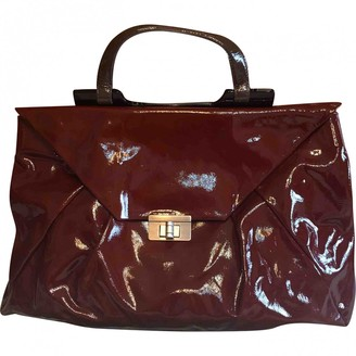 Marni Brown Patent leather Handbags