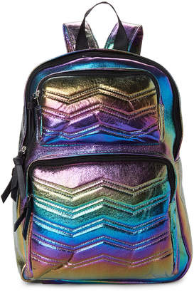 Imoshion Rainbow Chevron Quilted Vegan Backpack