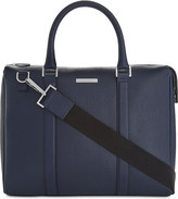 HUGO BOSS Signature leather messenger bag