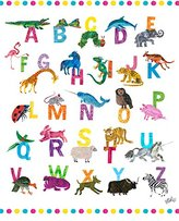 """Oopsy Daisy Fine Art For Kids Eric Carle's ABC's Girl Canvas Wall Art by Eric Carle, 14 x 18"""""""